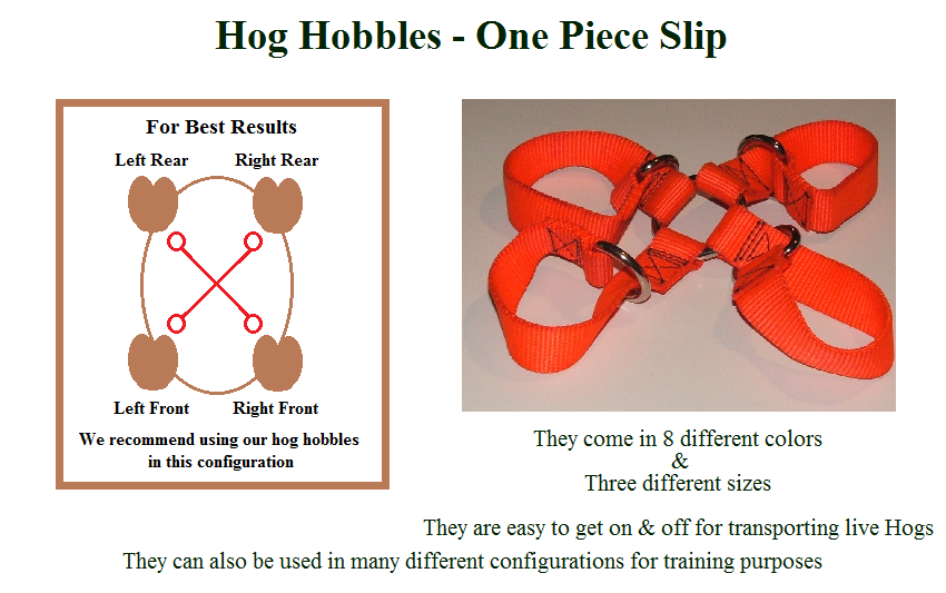 1 Piece Slip Hog Hunting Hobble
