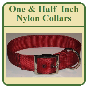 One & Half Inch Nylon Dog Collars