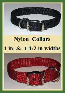 Nylon Dog Collars - 1 inch & 1.5 inch Widths