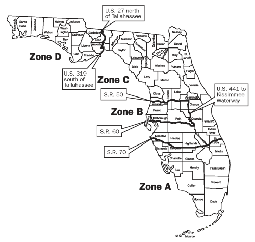 Hunting Zones for Florida
