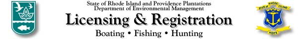 Rhode Island Fishing and Hunting Licenses