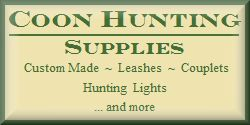 Coon Hunting Supplies - Crystal 2 Lights - Hunting Leashes