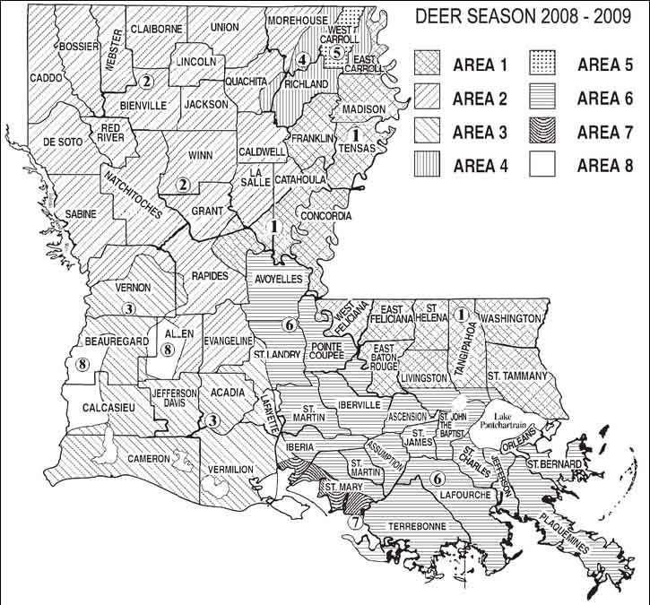 Hunting licenses seasons and schedule in all 50 states for Louisiana lifetime fishing license
