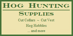 Hog Hunting Supplies - Hog Hobbles - Cut Collars - Cut Vests