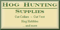 Hog Hunting Supplies-Hog Hobbles-Cut Collars