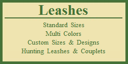 Leashes - Custom Sizes - Tieout Leashes