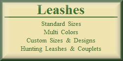 1 & 2 Ply Nylon Leashes - Custom Lengths - Double & Triple Dog Tie Out Leashes - Hunting Leashes
