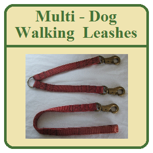 Multi - Dog Walking Leashes - Solid Brass Hardware