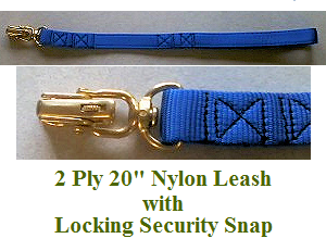 2 Ply 20 Nylon Security Leash with Locking Snap