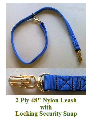 2 Ply 48 Nylon Tie Out Security Leash with Locking Snap