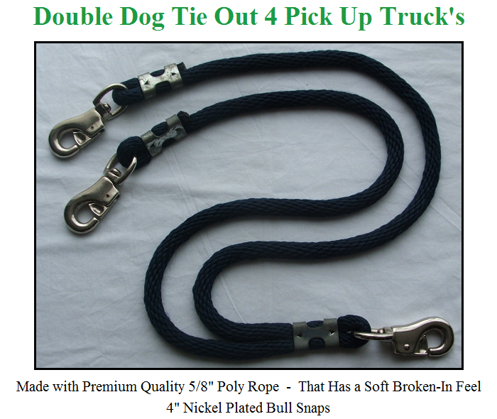 Dog Tie Down for Pickup Trucks - 2 Dog