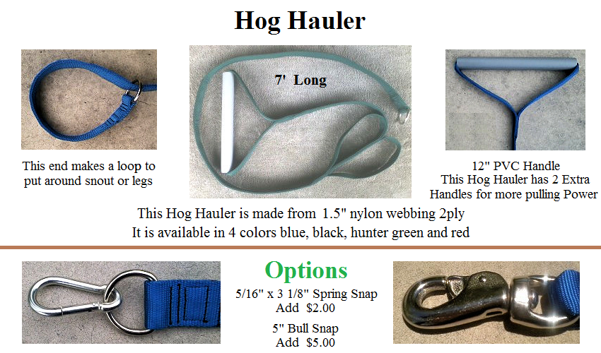Hog Hauler with 2 Extra Handle