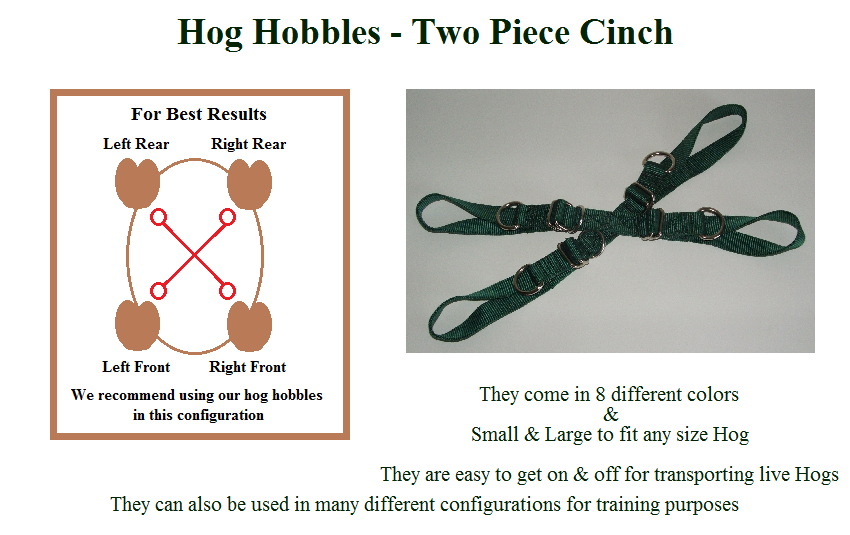 Hog Hobbles - Two Piece Cinch