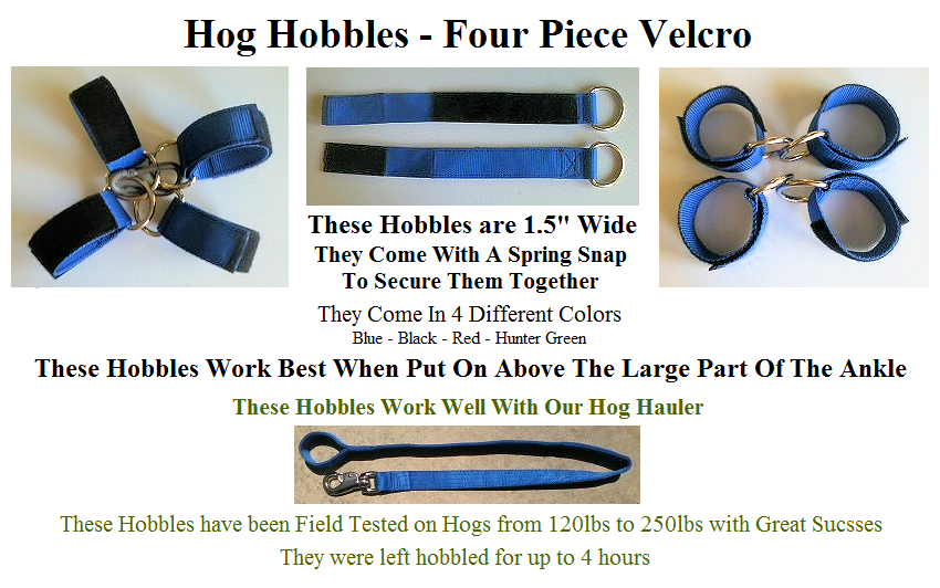 Hog Hobble 4 Piece Velco