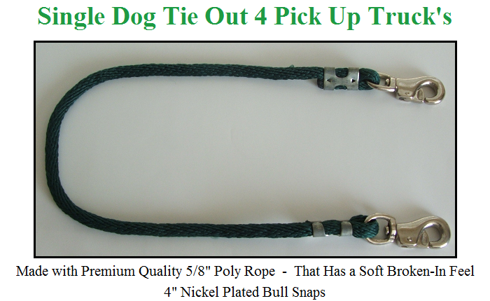 Dog Tie Down for Pickup Trucks - 1 Dog