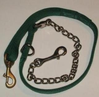 2 Ply 50inch - 30inch x 1inch Nylon - 20inch Lead Chain NP Tie out Leash