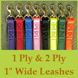 1 Ply & 2 Ply 1inch Wide Hunting Leashes - Double & Triple Dog Couplets